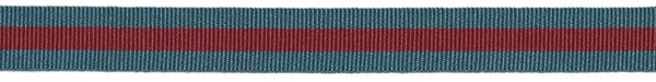 Striped - 5/8 inch - Slate/Red