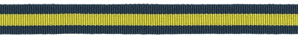 Striped - 5/8 inch - Navy/Yellow