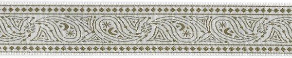 Fine Design Trim - 1 inch - Taupe/White