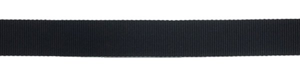 Nylon Grosgrain Ribbon - 1/2 inch - Black