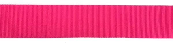 Nylon Grosgrain Ribbon - 3/4 inch - Fluorescent Pink