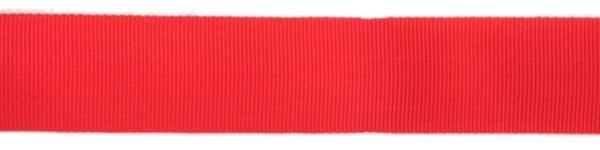 Nylon Grosgrain Ribbon - 3/4 inch - Fluorescent Orange