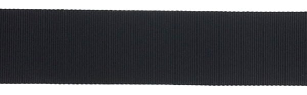 Nylon Grosgrain Ribbon - 1 inch - Black