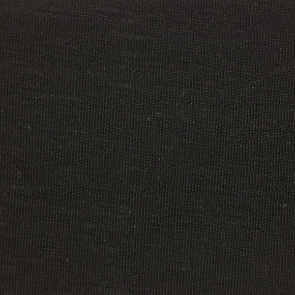 Merino Wool Rib - Black Tubular