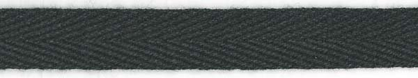 Twill Tape Cotton - 1/2 inch - Black