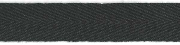 Twill Tape Cotton - 3/4 inch - Black