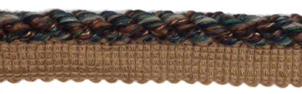 Twist Cord Edge - 1/2 inch - Black/Multi-Colored