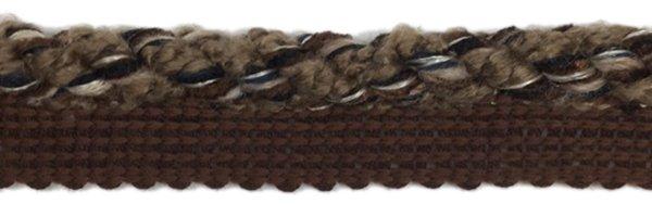 Twist Cord Edge - 1/2 inch - Black/Sandstone