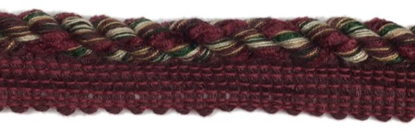 Twist Cord Edge - 1/2 inch - Cranberry
