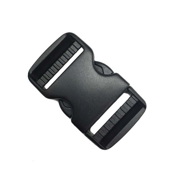 Dual Adjusting Side Release Buckle - 1-1/2 inch - Black