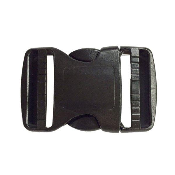 Trovato Dual Adjusting Side Release Buckle - 2 inch - Black