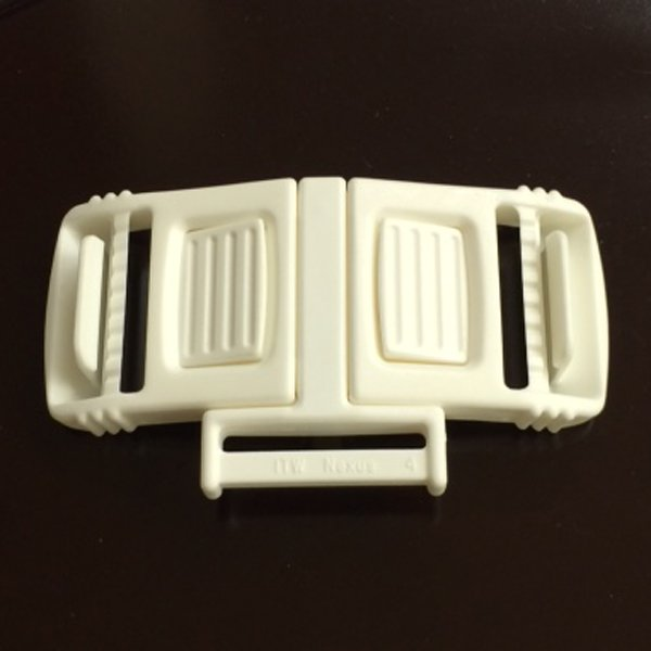 3 Point Harness Buckle - 1 inch - White