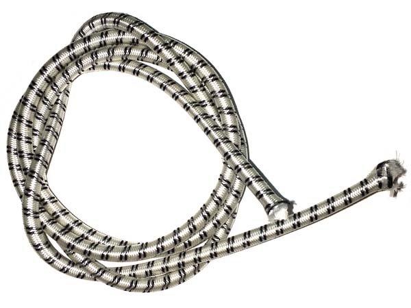 3/16 inch - Shock Cord - White w/Black