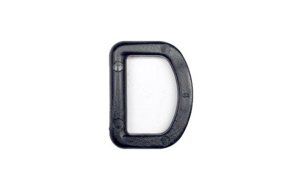Acetal D-Ring - 1 inch - Black
