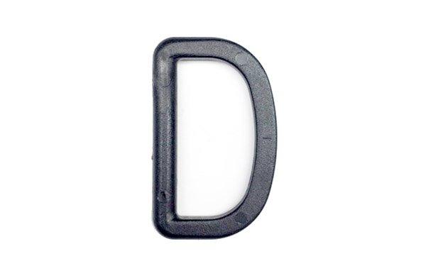Acetal D-Ring - 1 1/2 inch -Black