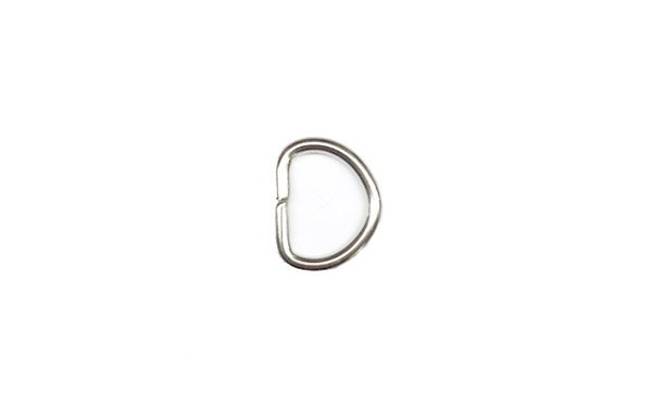Metal D-Ring - 1/2 inch - Nickel