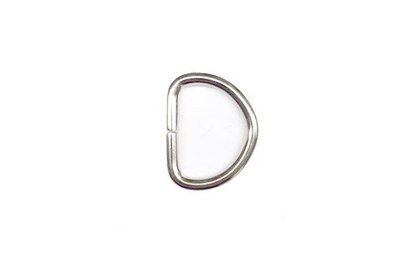 Metal D-Ring - 3/4 inch - Nickel