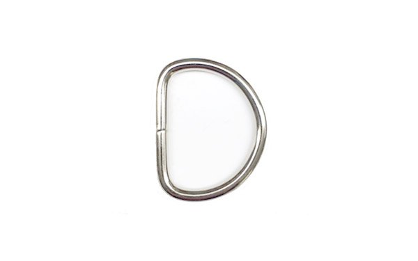 Metal D-Ring - 1 inch - Nickel