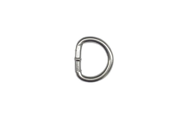 Welded Stainless D-Ring - 5/8 inch - Nickel