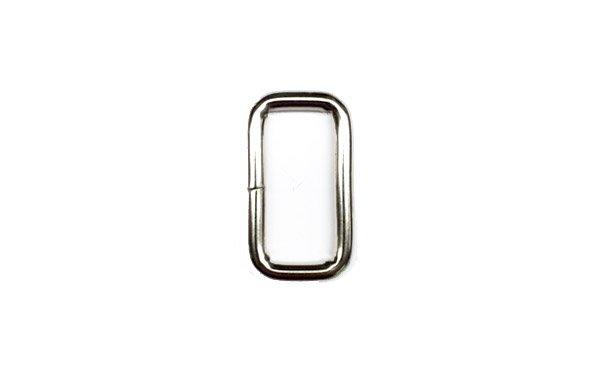 Metal Rectangle - 1 inch - Nickel