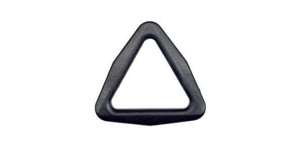 Acetal Triangle-Ring - 1 inch - Black