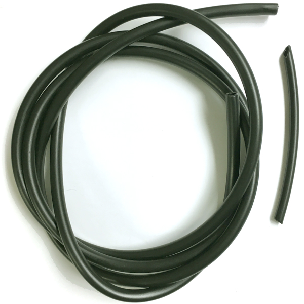 Wind Sock Tubing with Fittings - 1/4 inch - Black