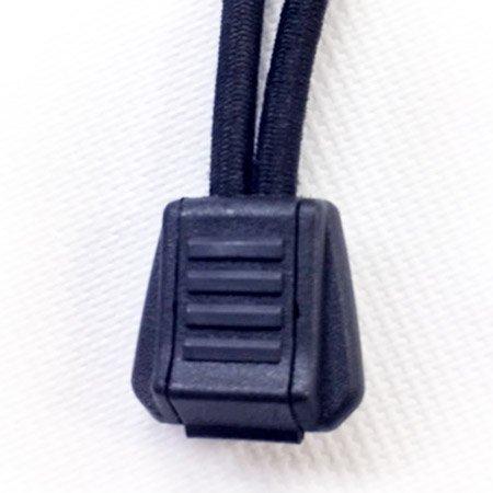 Zip Cords Pulls -  3/4 inch - Black