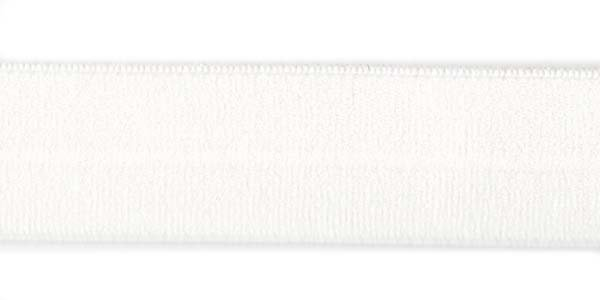 1 inch - Foldover Elastic - White