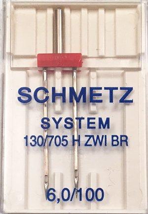 Schmetz Twin Woven Needle 6.0/100
