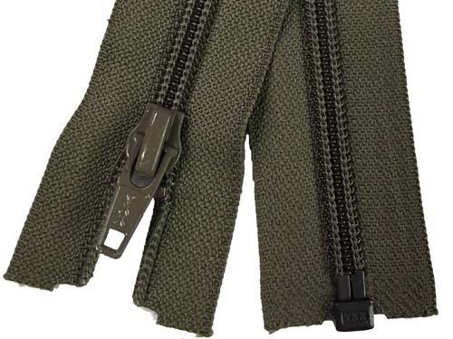 YKK #5 Coil 1-Way Separating Zipper - 30 inch - Moss