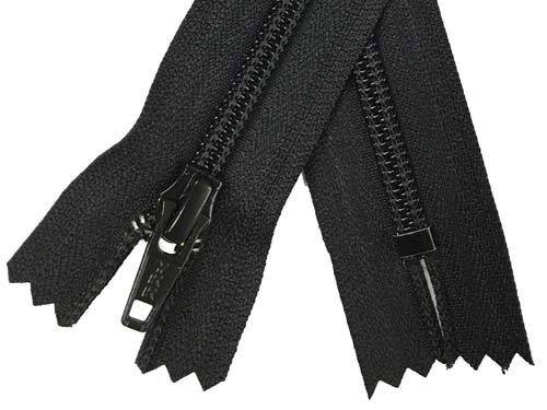 YKK #5 Coil Non-Separating Zipper - 18 inch - Black