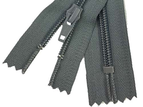 YKK #5 Coil Non-Separating Zipper - 18 inch - Charcoal