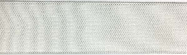 1 inch - Sew Through Elastic - White
