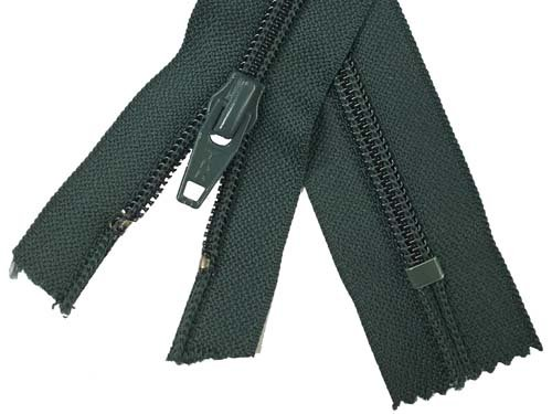 YKK #5 Coil Non-Separating Zipper - 18 inch - Dark Forest Green