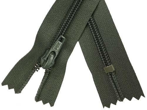 YKK #5 Coil Non-Separating Zipper - 18 inch - Dark Olive