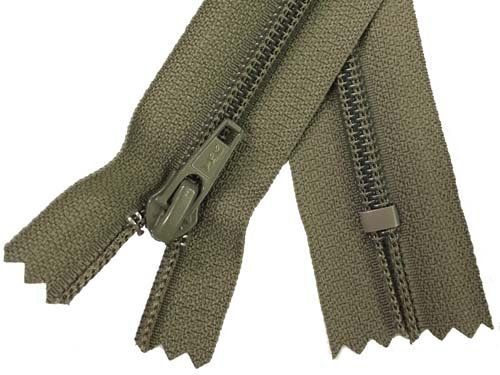 YKK #5 Coil Non-Separating Zipper - 18 inch - Dark Mushroom