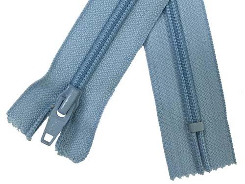 5 Coil Non-Separating Zipper - 18 inch - Light Blue