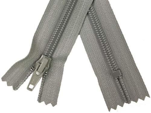 YKK #5 Coil Non-Separating Zipper - 18 inch - Light Grey