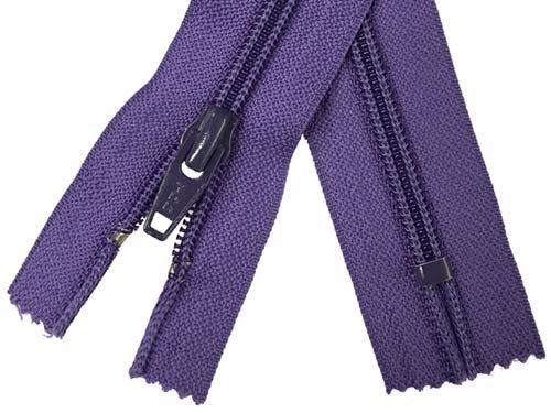 YKK #5 Coil Non-Separating Zipper - 18 inch - Purple