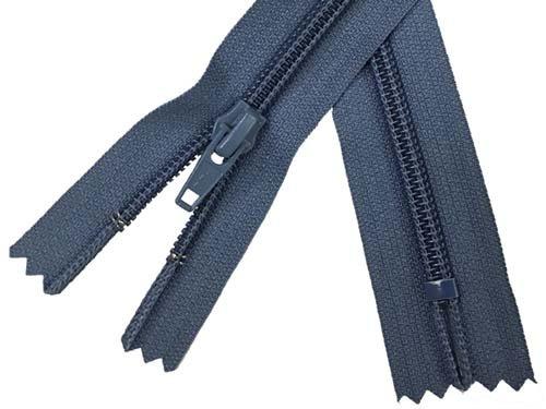 YKK #5 Coil Non-Separating Zipper - 18 inch - Slate Blue