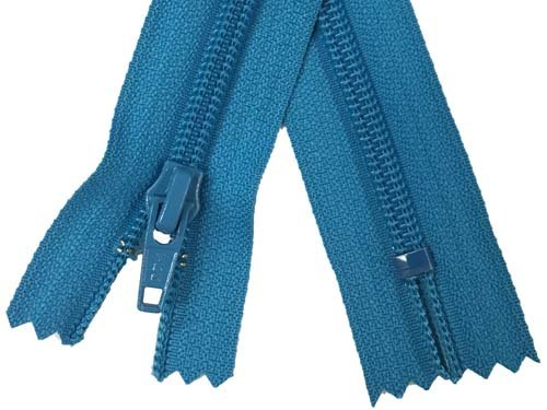 YKK #5 Coil Non-Separating Zipper - 18 inch - Turquoise
