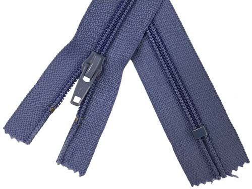 YKK #5 Coil Old Style Non-Separating Zipper - 18 inch - Violet