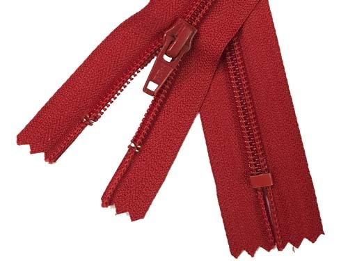 YKK #5 Coil Non-Separating Zipper - 18 inch - Red