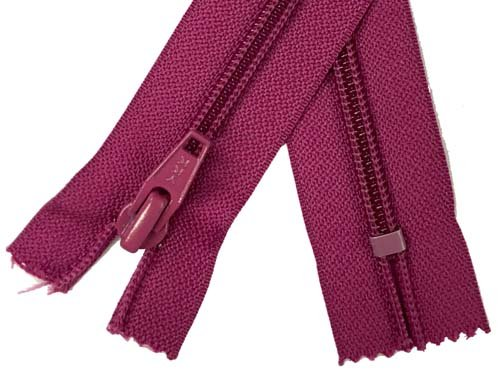 YKK #5 Coil Old Style Non-Separating Zipper - 18 inch - Fuchsia