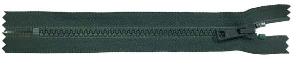 YKK #5 MT Non-Separating Zipper  - 18 inch - Dark Forest Green