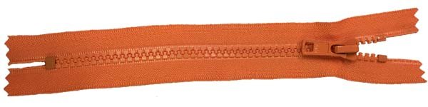 YKK #5 MT Non-Separating Zipper New Style - 9 inch - Orange