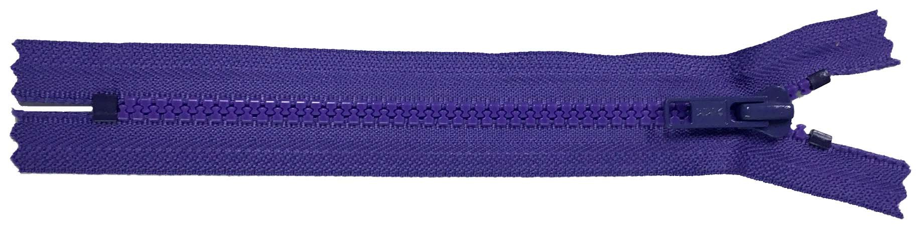 YKK #5 MT Non-Separating Zipper Old Style - 7 inch - Purple