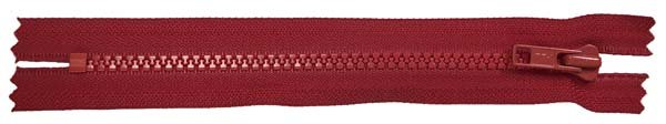 YKK #5 MT Non-Separating Zipper New Style - 18 inch - Red