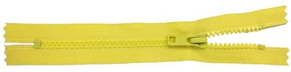 YKK #5 MT Non-Separating Zipper New Style - 9 inch - Yellow