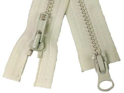YKK #5 MT 2-Way Separating Zipper Old Style - 40 inch - Ivory